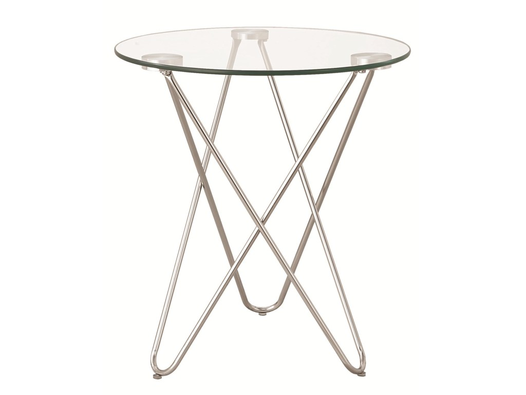 coaster accent tables petite table glass top value city products color coas tablesaccent round metal side living room furniture end art deco black occasional small wood dining and