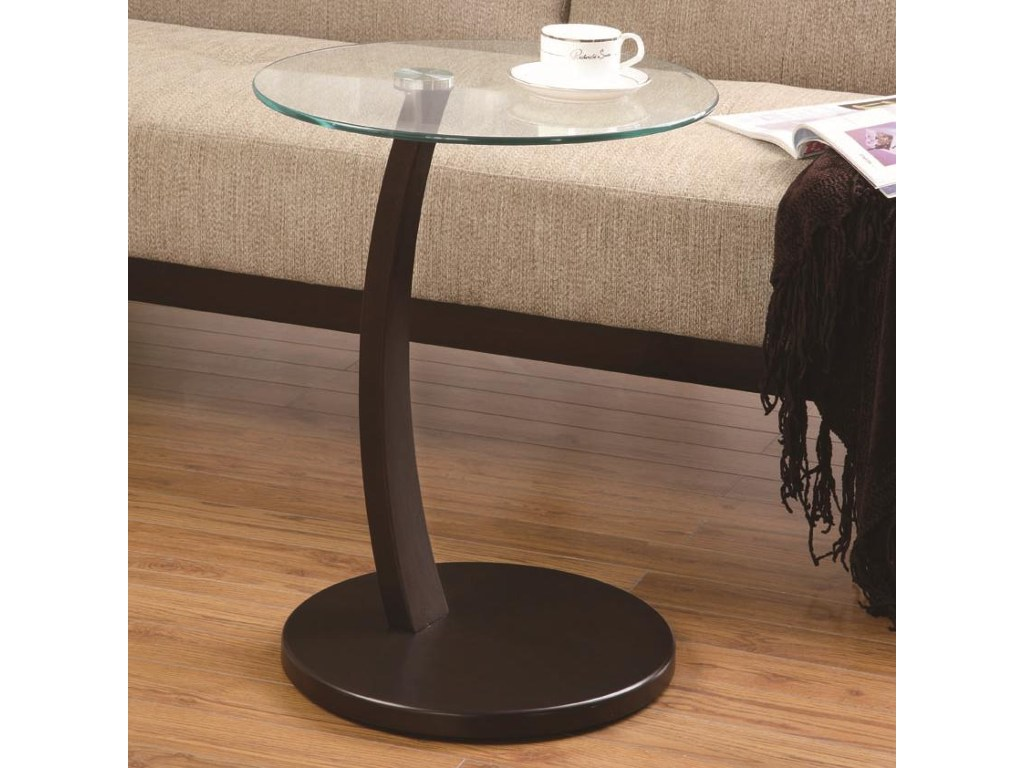 coaster accent tables round table with glass top products color coas tablesaccent all modern side nautical lights large antique dining room foot patio umbrella dark wood old
