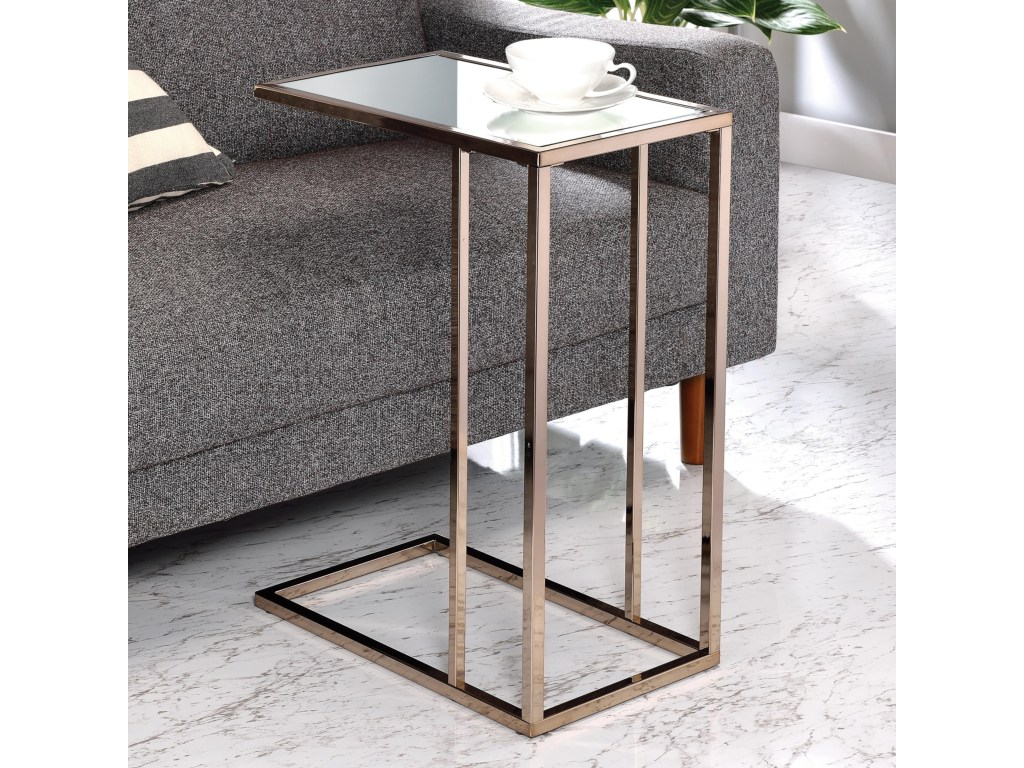 coaster accent tables snack table value city furniture end products color coas tablessnack metal wall clock large white side round rattan coffee glass dining set winsome wood