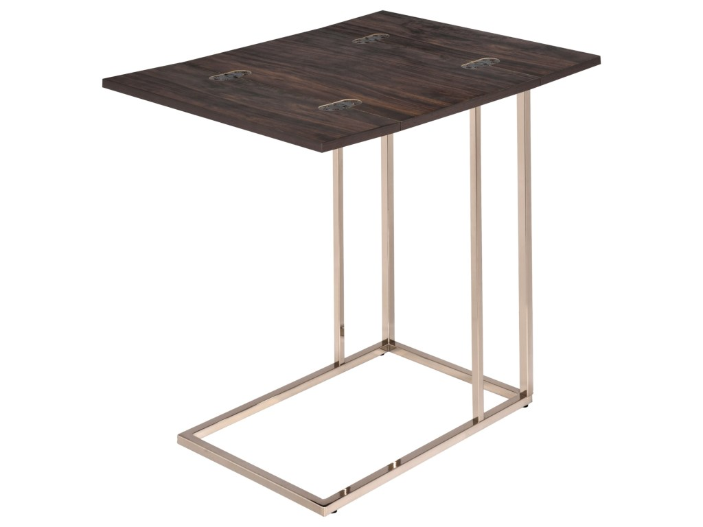 coaster accent tables snack table with expandable rotating top products color coas furniture tablessnack battery led desk lamp barn door garden storage bench small trestle legs