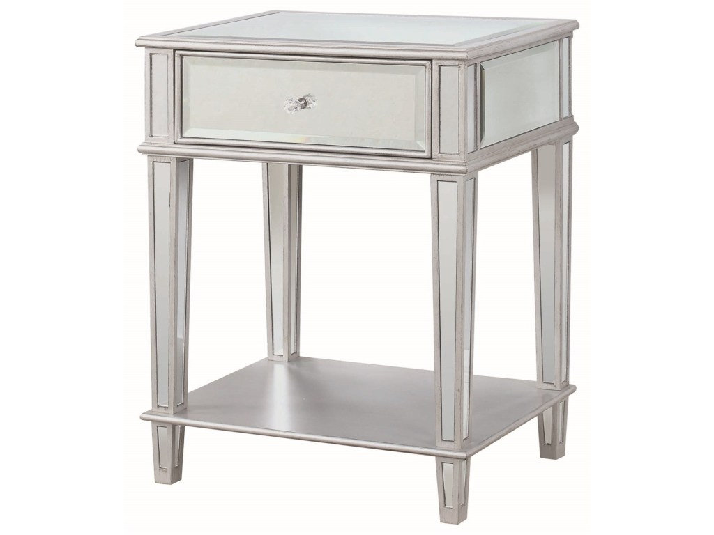 Coaster Accent Tables Table With Mirrored Finish Miskelly