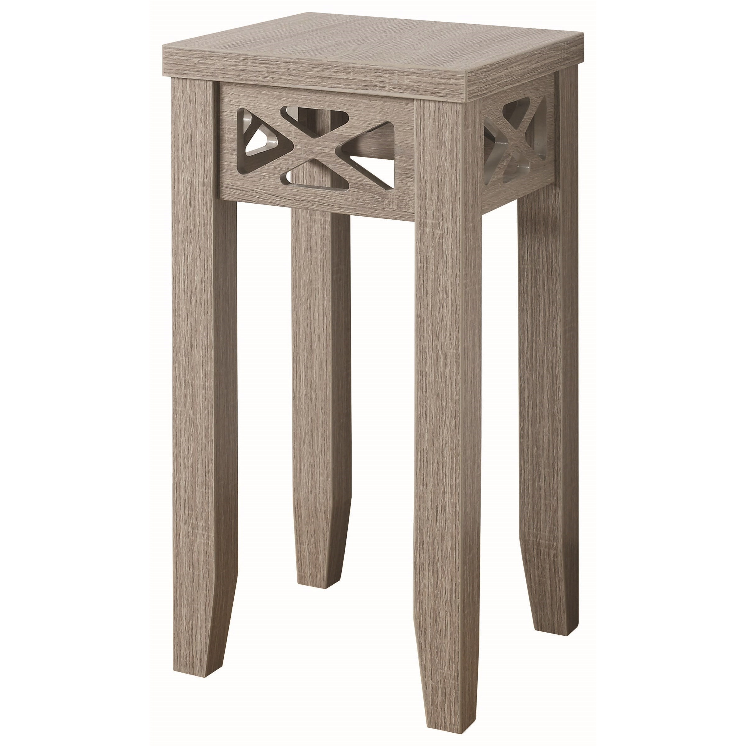 coaster accent tables table with triangle trim products color coas pedestal wood coffee tray west elm abacus floor lamp target sleeper sofa porch swing villa furniture glass