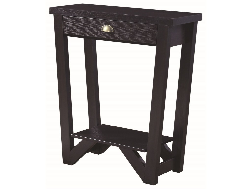 coaster accent tables transitional angled console table value city products color coas antique black tablesconsole charging station wireless desk lamp mirrored bedside footstool