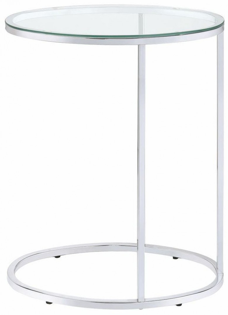 coaster chrome accent table collection reviews living room snack with glass top balcony patio furniture cream lamp for foyers unique kitchen islands silver white wood slim