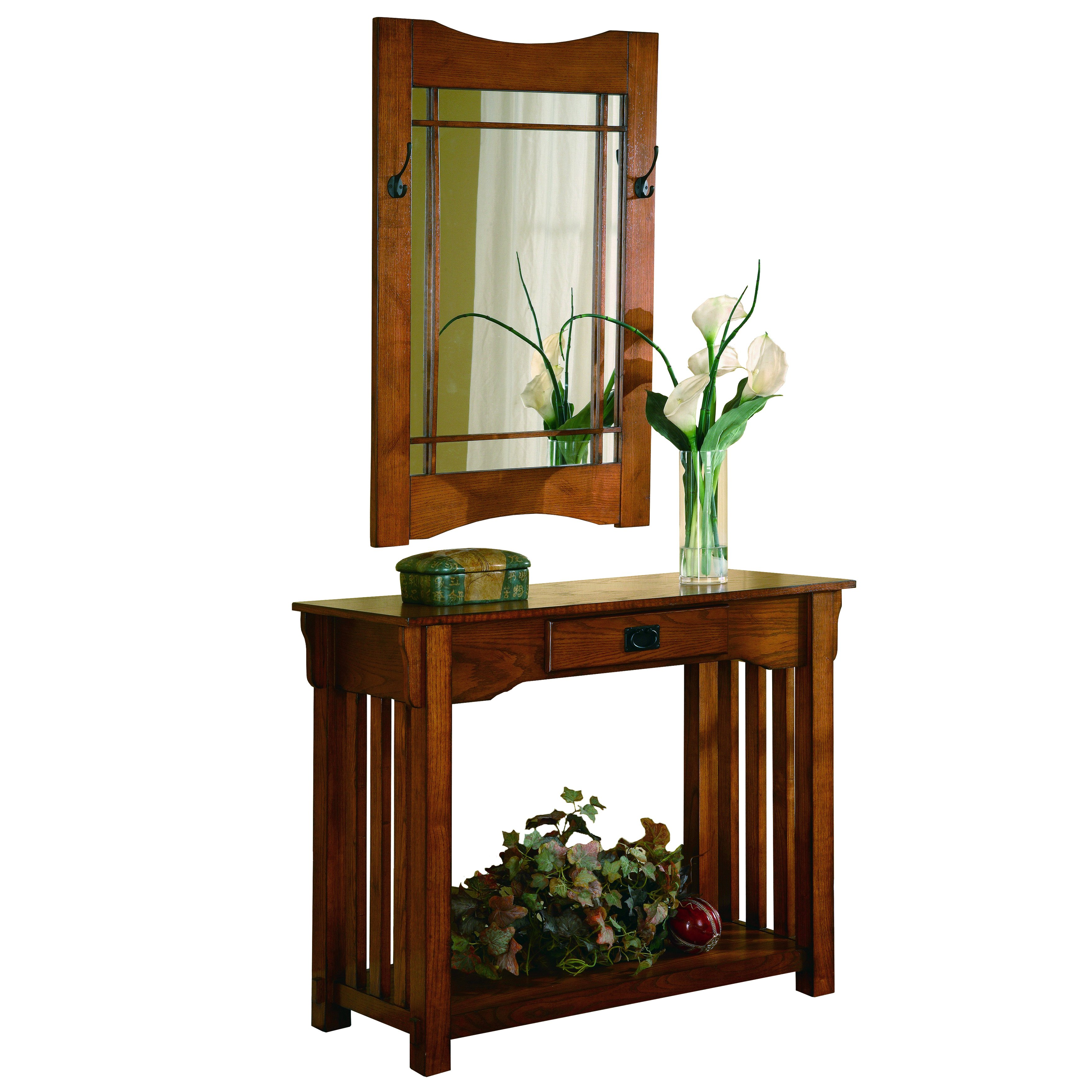 coaster company oak finish mission style accent table and framed mirror set free shipping today cloth napkins side with umbrella hole target threshold gold black marble dining