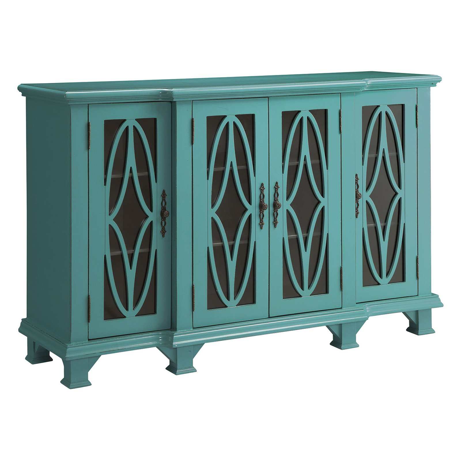 coaster company teal blue accent cabinet table diy patio umbrella stand clearance dining room chairs ikea storage bronze glass coffee counter height bar laminated tablecloth inch