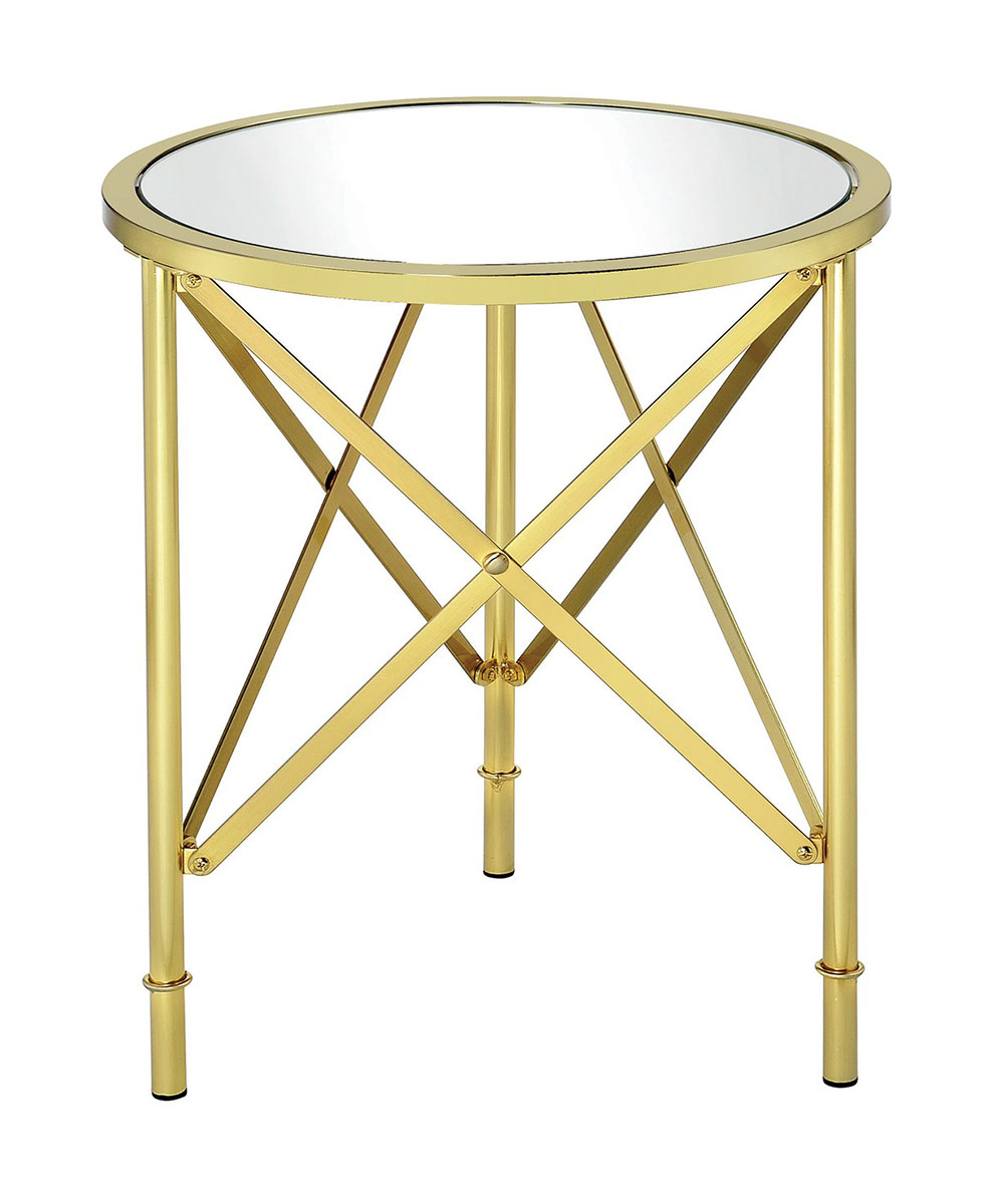 coaster donny osmond home accent table brushed bass mirrored glass with drawer tall console hall drawers kitchen light shades teak dining chairs bedroom bedside tables outdoor