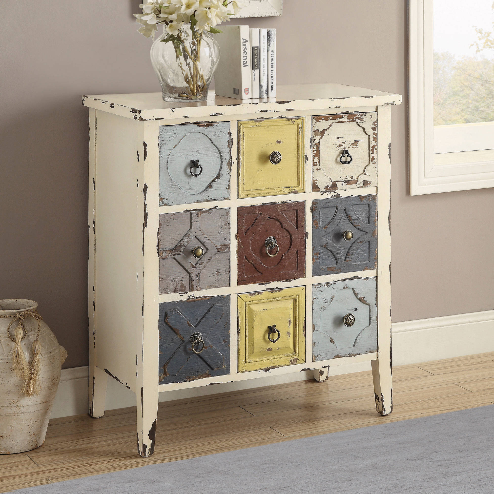 coaster eclectic style antique white accent cabinet table console lamps pier one shower curtains small round wine battery for home dining chairs rustic tablecloth outdoor iron