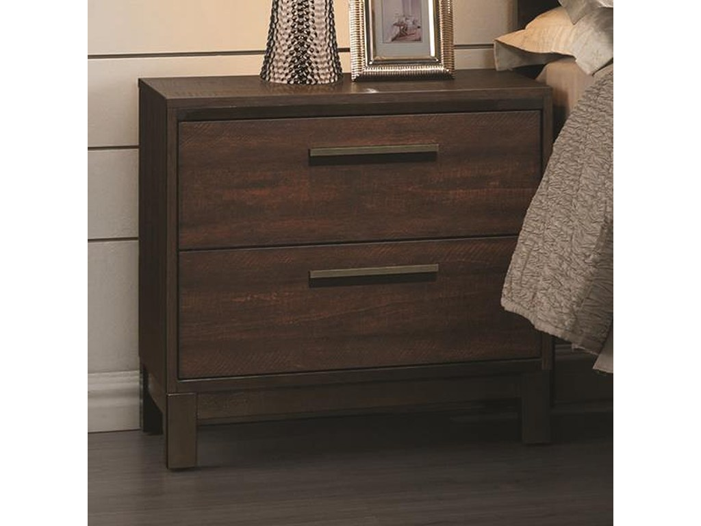 coaster edmonton nightstand with two dovetail drawers products color accent tables beck furniture night stands stainless steel island dale tiffany pendant lights bamboo table tall