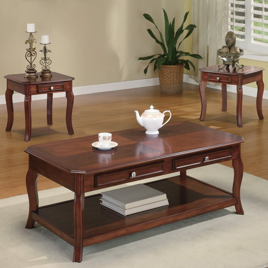 coaster fine furniture piece brown cherry accent table set hollywood glam battery operated lamp with timer living room sets small round pedestal side high dining and chairs