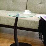 coaster home furnishings accent table with round glass contemporary top cappuccino and clear kitchen dining paper tablecloths living room furniture for small spaces gold leaf side 150x150