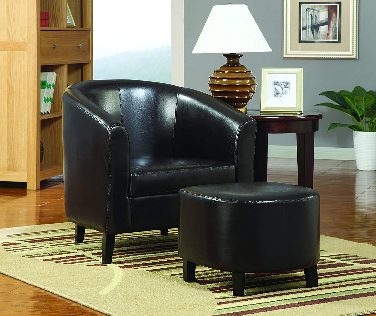 coaster home furnishings barrel back accent chair with ave six piece fabric and table set ott dark brown black kitchen dining outdoor coffee cover wine shelf pottery barn frog