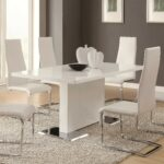 coaster modern dining piece white table upholstered chairs products color accent pieces for room chair set narrow console tables hall interior ideas sectional couch skinny behind 150x150