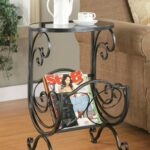 coaster silver gun metal accent table collection tall small round valley city furniture coffee with drawers ikea black modern side pool umbrella stand teak outdoor end laminate 150x150