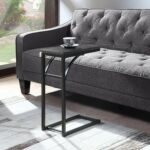 coaster weathered gray and black accent table collection retro style bedroom furniture inch console glass nesting tables set small adjustable legs perspex side unique end with 150x150