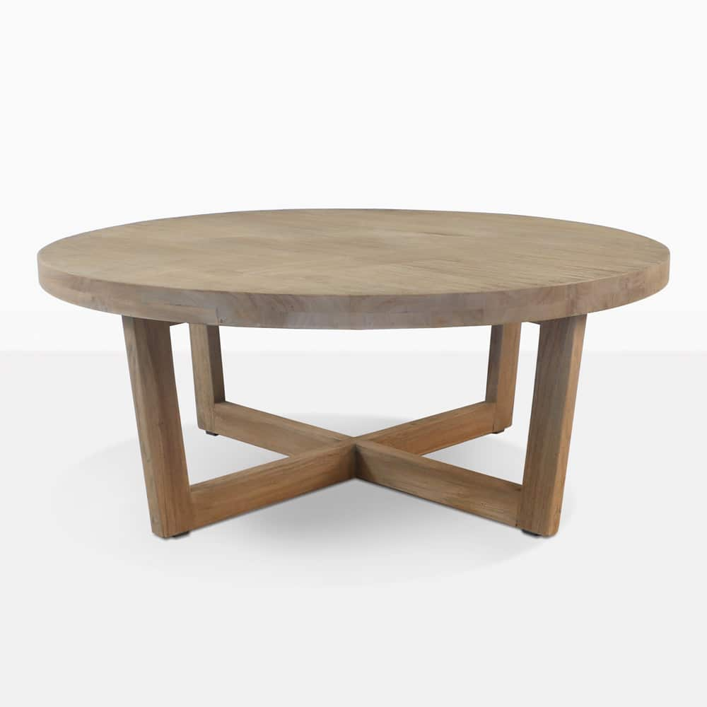 coco teak outdoor coffee table patio furniture angle side bass drum head mid century legs solid wood occasional tables target metal accent cottonwood nautical style pendant lights