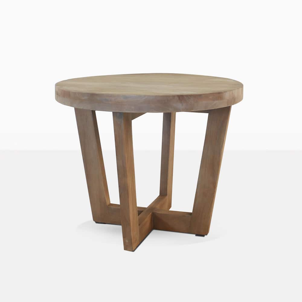 coco teak outdoor side table low patio furniture accent angle whitewash wood glass end tables small night lamps washer dryer making half aluminium door threshold strips red