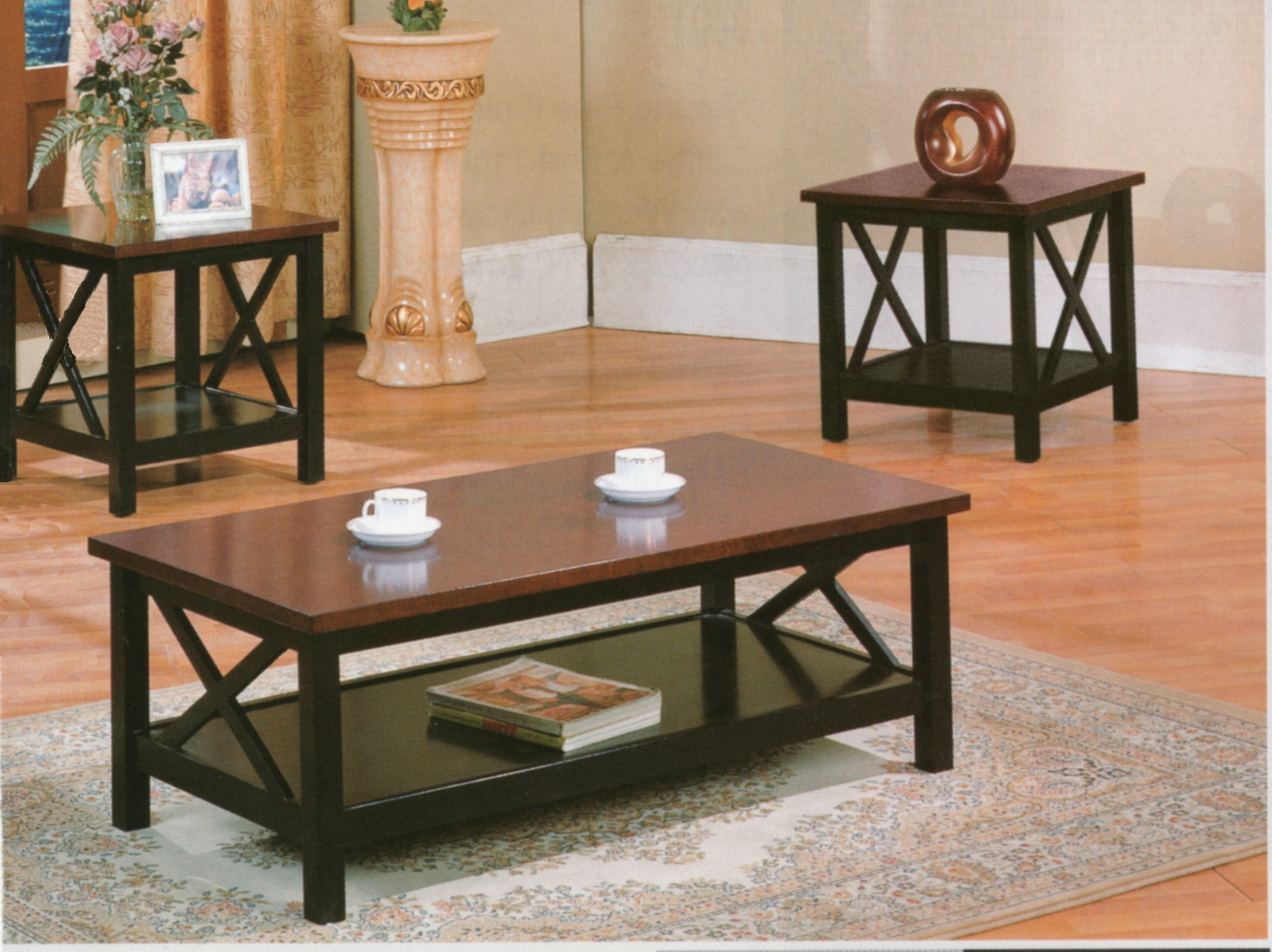 coffee table and end tables set best the world black ideas dark wood sets creative coaster casual piece occasional living three pottery barn comforters pink lamp short console