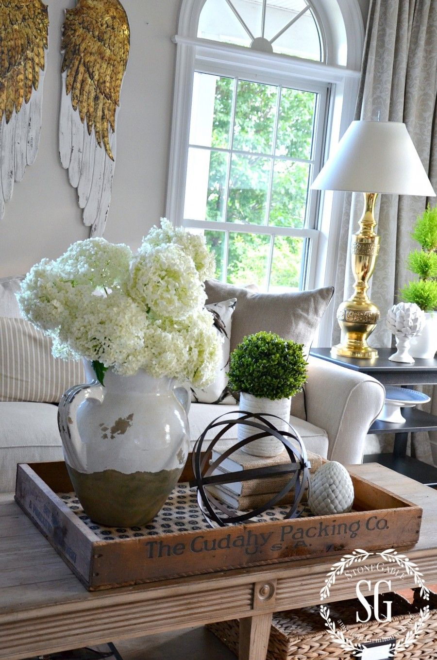 coffee table decorative accents ideas gallery tables bhome summer open house tour collection love the idea putting dining cover set small nightstand crystal glass lamps concrete