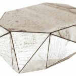coffee table faceted mirror jayson home round mirrored base antique top tray glass small bassett gold end side comfy dog beds wood dining legs dresser kijiji patio furniture sets 150x150