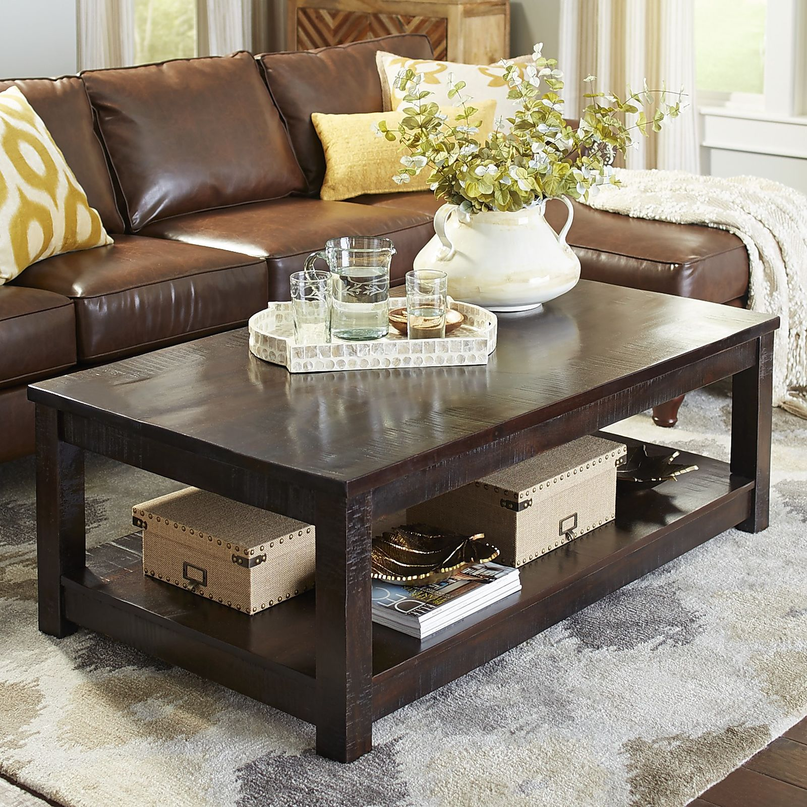 coffee table furniture accent tables lovely end pier parsons large tobacco brown imports centerpieces decor one sets chest base trunk tray and full size high console shoe caddy