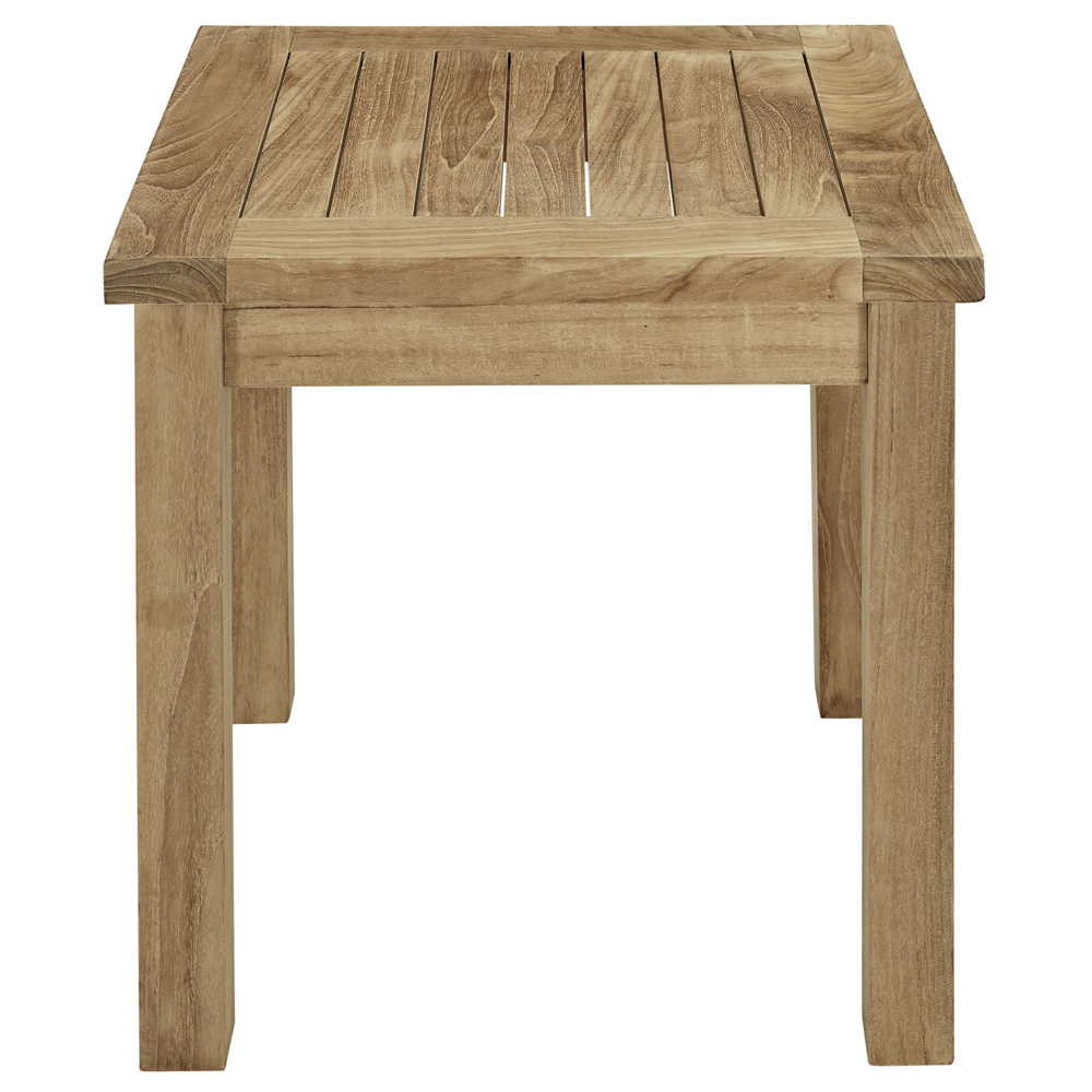 coffee table marina outdoor patio teak side reclaimed coff folding garden small furniture square round weathered end tables calgary entrance ikea kitchen storage high top