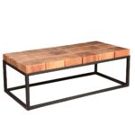 coffee table products wood lacquer material accent tables acacia block contemporary iron base rustic square slab seville dark with drawers winchester large ideas related colville 150x150