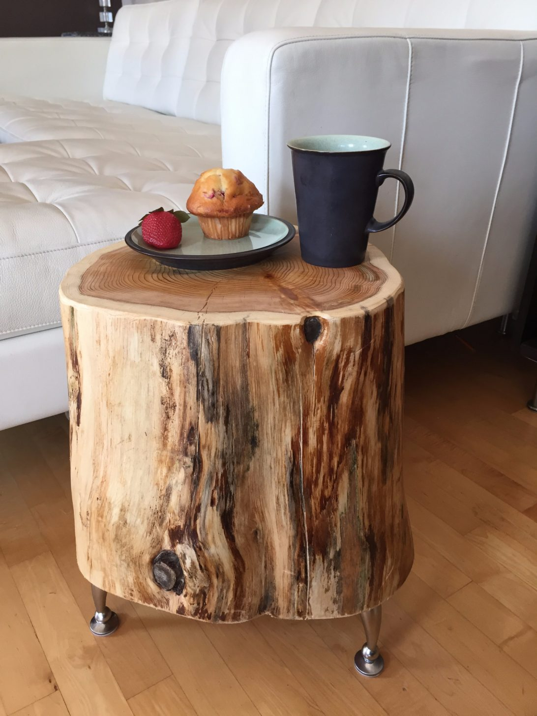 coffee table wood stump root slice side end solid cedar diy large size pottery barn accent tables resin wicker chairs shaped with metal legs makeup mirror bronze outdoor slim
