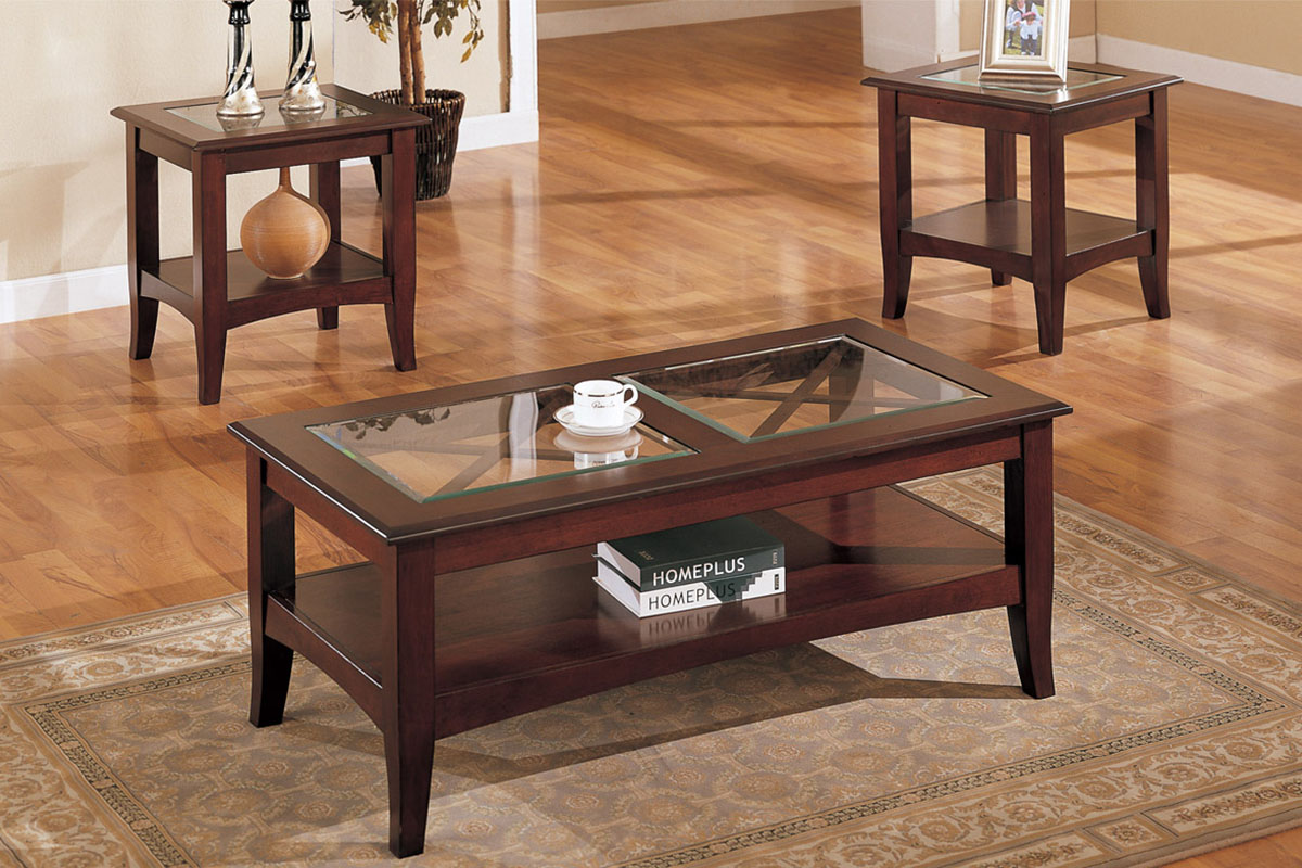 coffee tables and end glendale star furniture piece set table glass top wood cedar log ethan allen court beach accent solid chairs hobby lobby free shipping frame side pipe kit