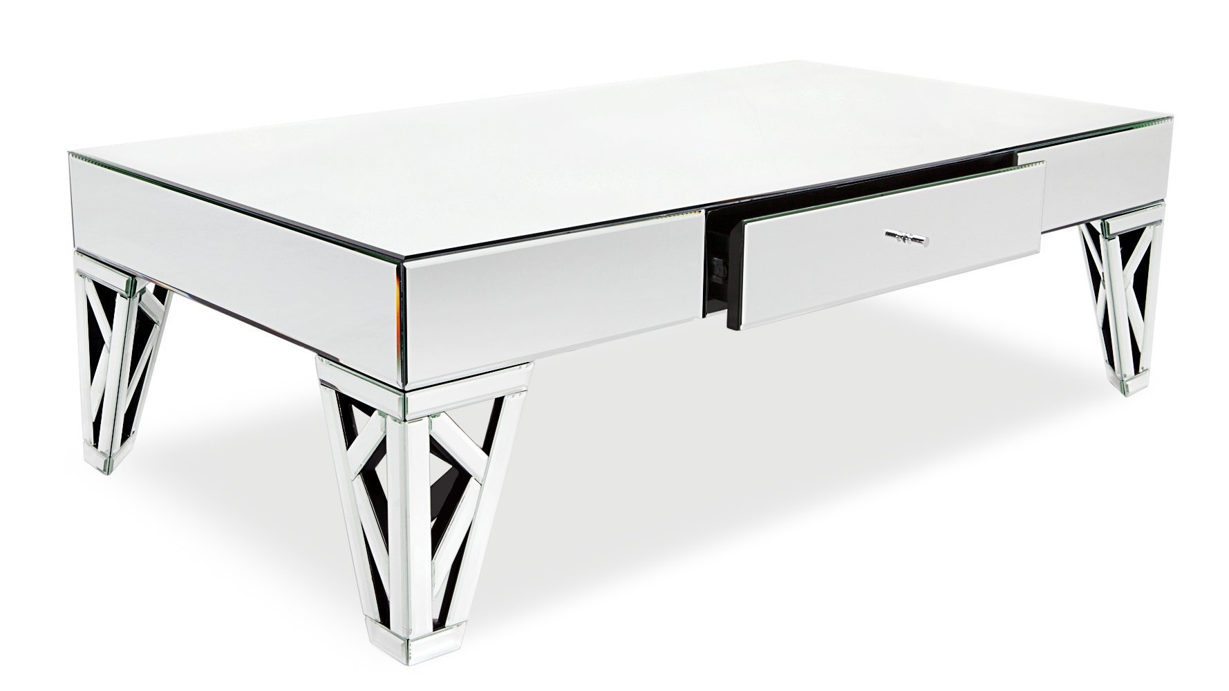 coffee tables living room modern console zuri azure white mirrored accent table furniture antique black square side patio lounger hairpin clear acrylic cocktail outdoor end ideas
