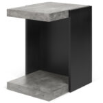 coffee tables living room modern console zuri zion side table concrete color pure black pedestal accent furniture metal legs pier one counter stools mosaic garden outdoor shoe 150x150