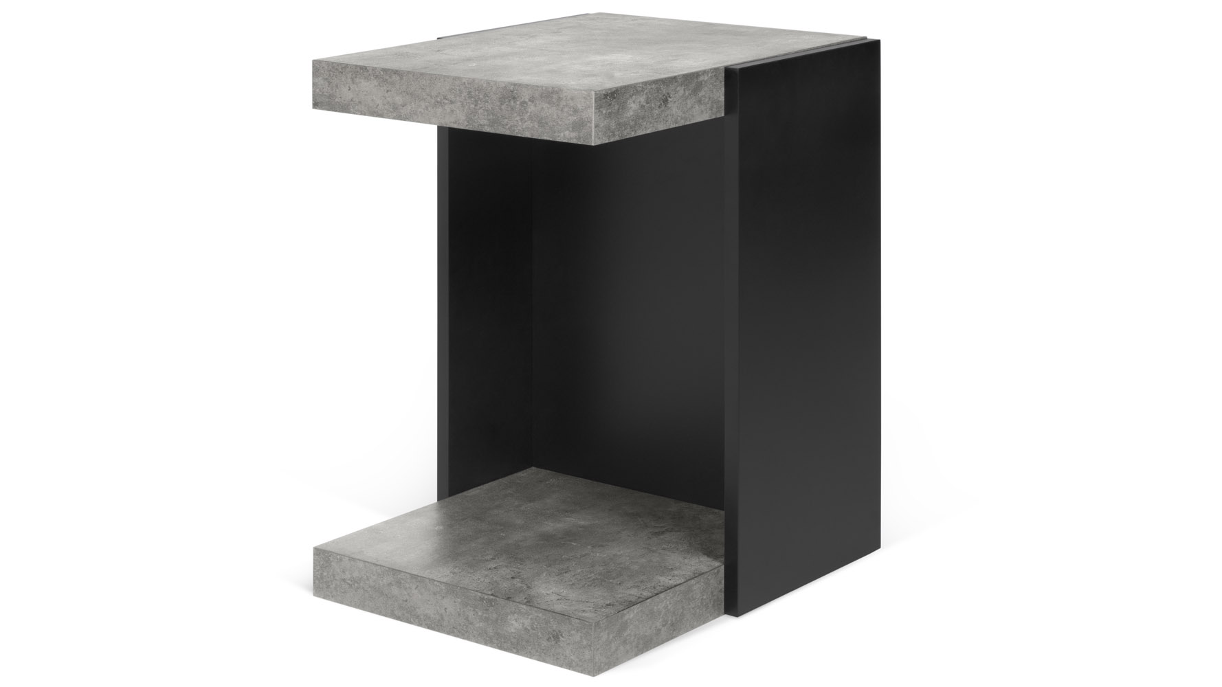coffee tables living room modern console zuri zion side table concrete color pure black pedestal accent furniture metal legs pier one counter stools mosaic garden outdoor shoe