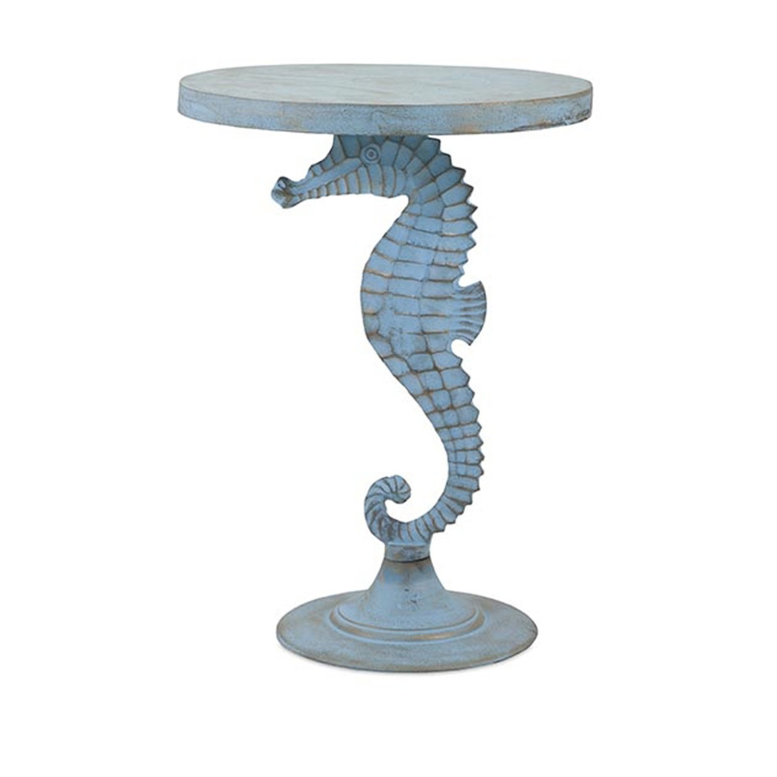 coffee tables side shades light weathered coastal seahorse accent table galvanized metal mirrored bedside furniture modern outdoor nic legs rectangular nest nautical desk lamp