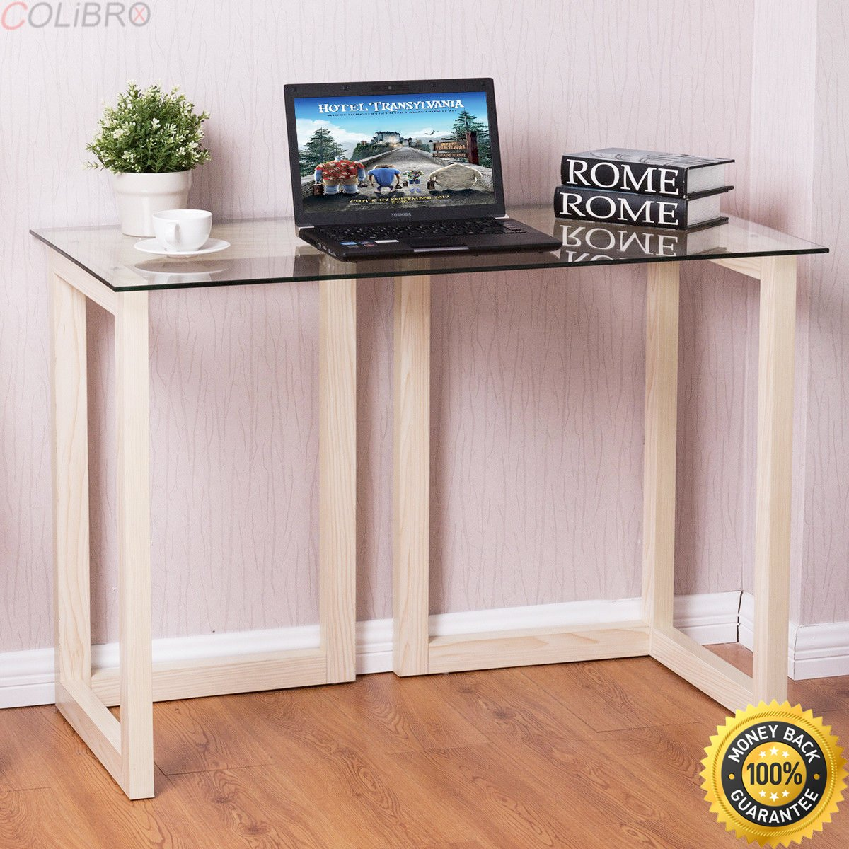 colibrox tempered glass top console desk sofa entryway accent table wood furniture tables solid living room ashley coffee and end cherry dining vintage marble laminate floor trim