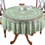 collections etc crochet lace floral tablecloth dining round accent room layer linens use its own sage green home kitchen glass lamp shades outdoor garden table battery standard 150x150