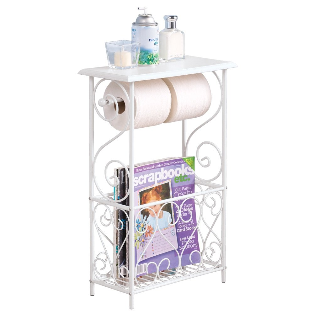 collections etc toilet paper and magazine holder table accent with rack white home kitchen very garden furniture nic tablecloth large outdoor umbrellas small gold end round screw
