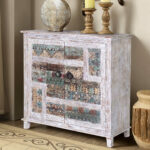 collice white finish rustic mango wood accent storage cabinet furniture marble bar table tall narrow entryway lamps and shades ikea childrens solutions closeout small round dining 150x150