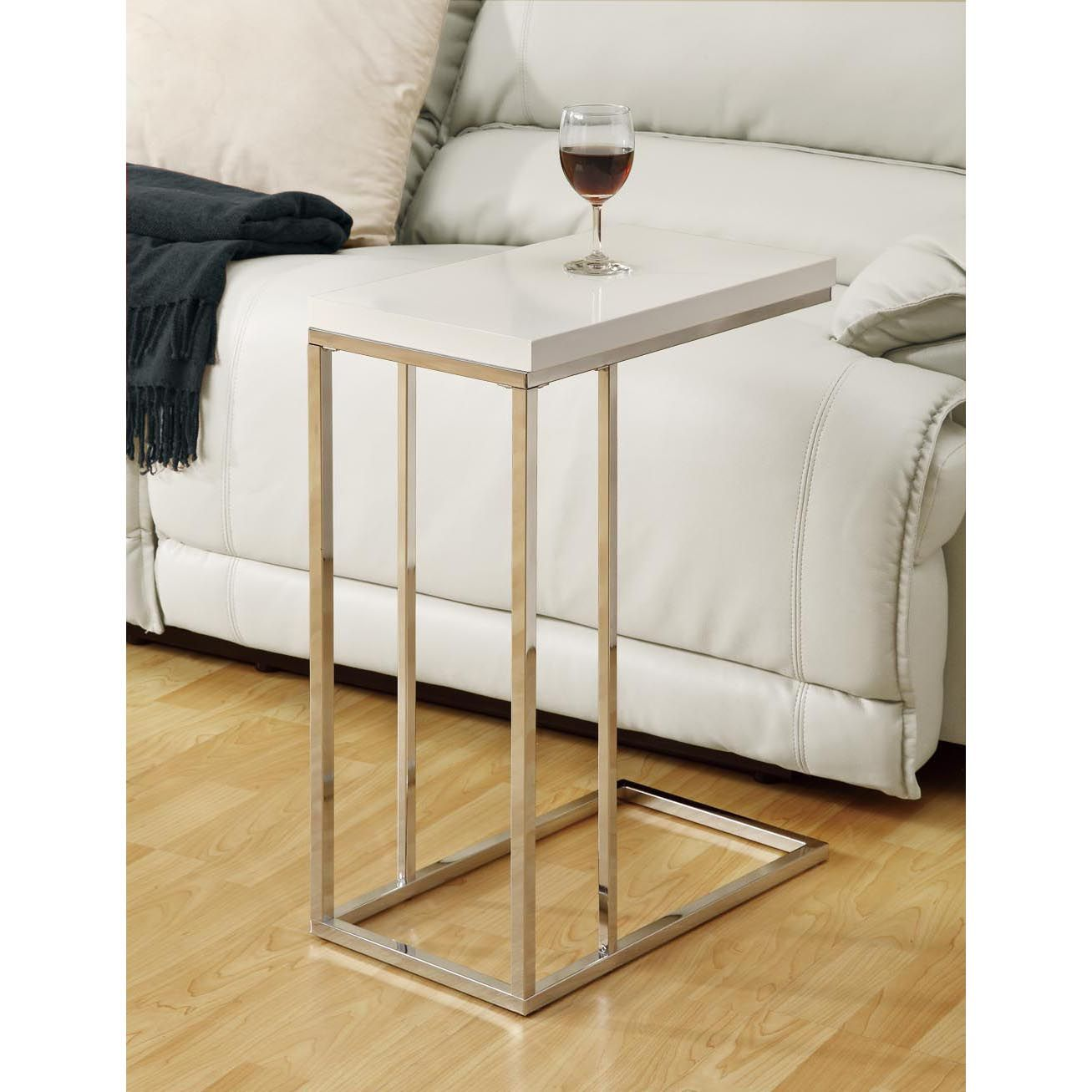 combine modern style and functionality with this white metal accent table made from particle board has square tiffany butterfly lamp lamps contemporary design green dorm room