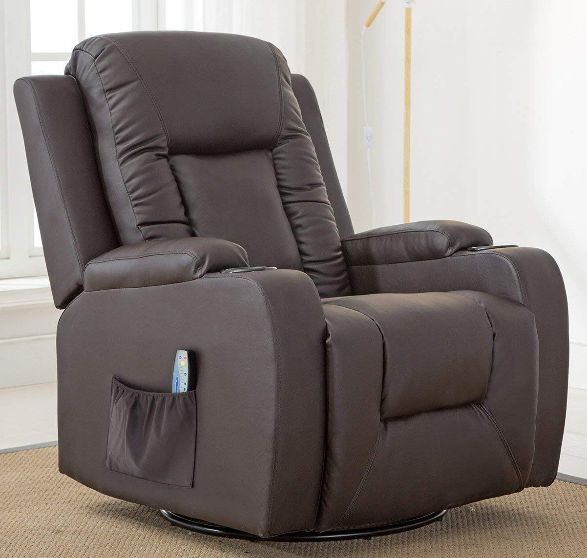 comhoma leather recliner chair modern rocker with heated target waldo accent table massage ergonomic lounge degree swivel single sofa seat drink holders living room pub set drawer