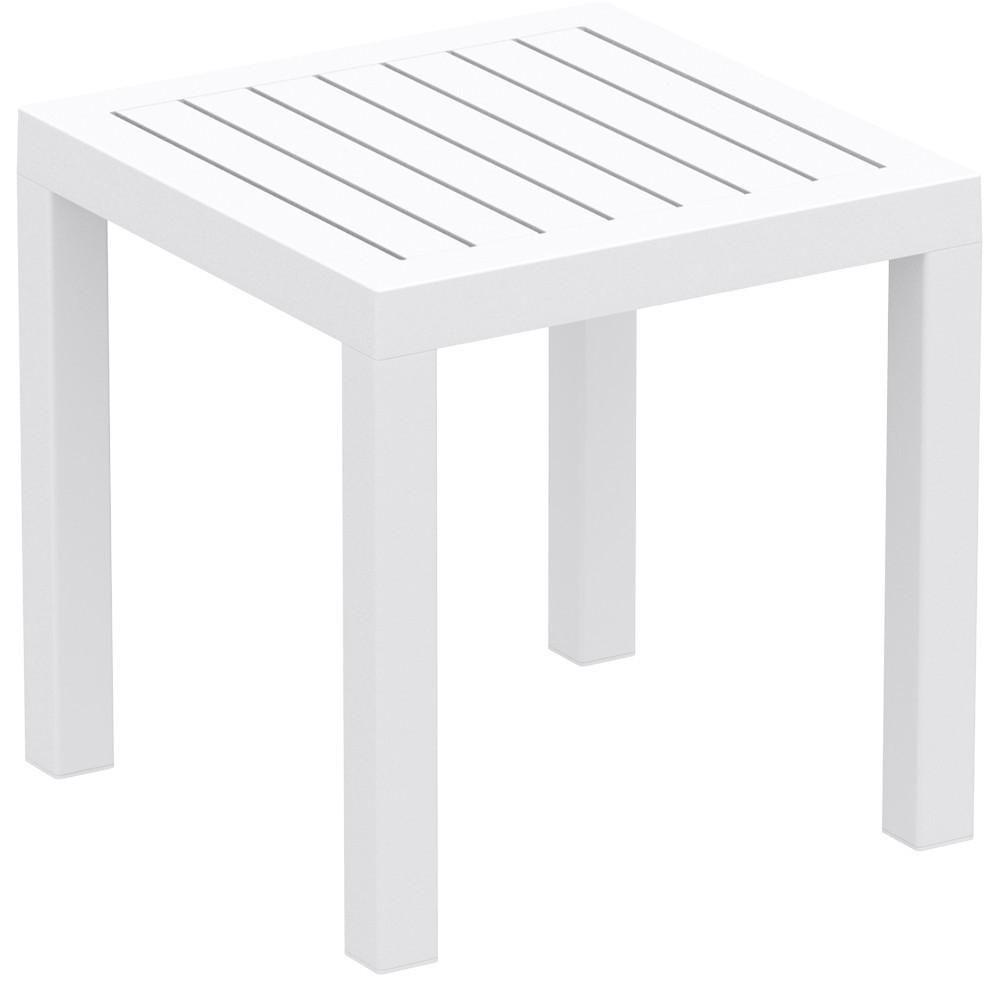 compamia ocean square resin side table white contemporary outdoor tables whi accent bedside with drawers kitchen pulls metal threshold cover ashley living room repurposed coffee