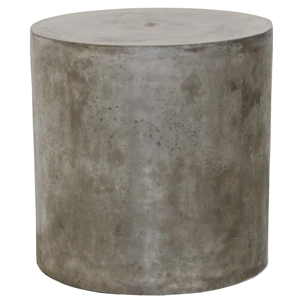 conan modern round grey concrete outdoor side end table kathy kuo home product yellow area rug industrial diy mcm furniture glass entrance farmhouse drop leaf narrow mirrored