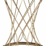 concave round brass metal glass top accent table tables pulaski wicker set white living room furniture ideas wireless lamps chairs with modern buffet target grey extendable 150x150