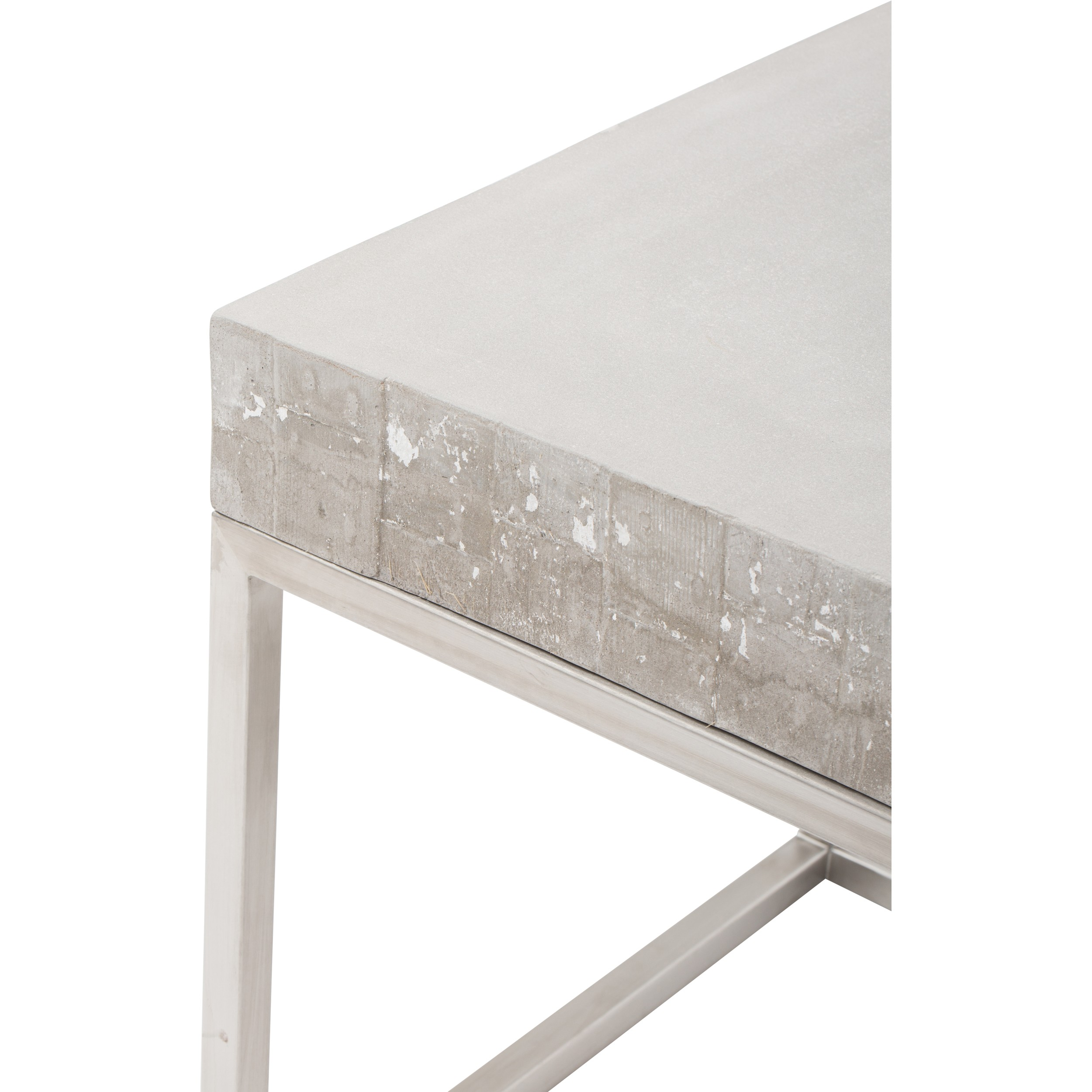 concrete and chrome end table accent tables outdoor furniture dark cherry wood round kitchen tablecloths lounge room bunnings dining gothic bbq grills hourglass patio umbrella