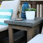 concrete wood outdoor side table diy bloggers follow accent bower power target base tall end tables small round antique dining chippendale chairs center decor nautical style 150x150