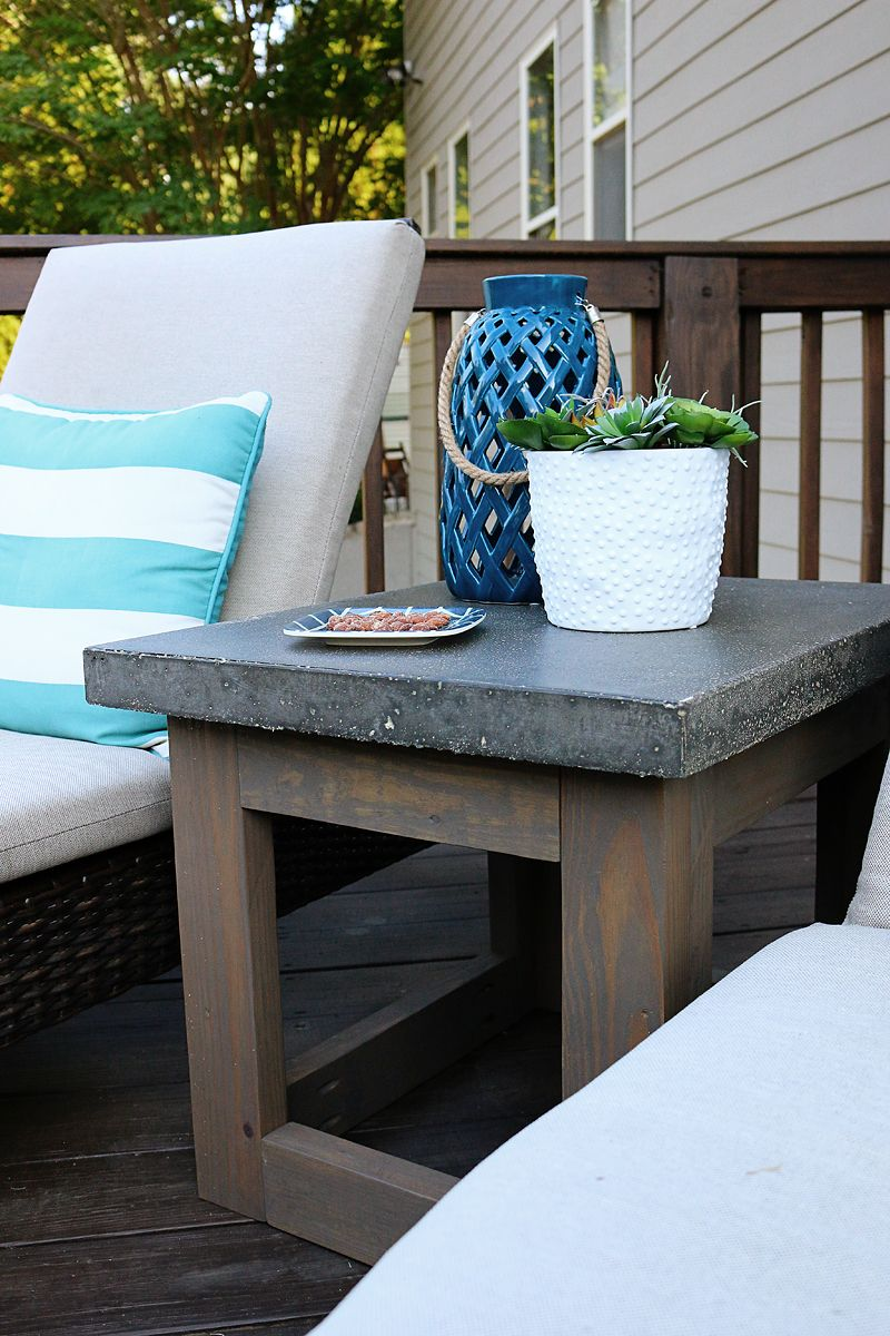 concrete wood outdoor side table diy bloggers follow accent bower power target base tall end tables small round antique dining chippendale chairs center decor nautical style
