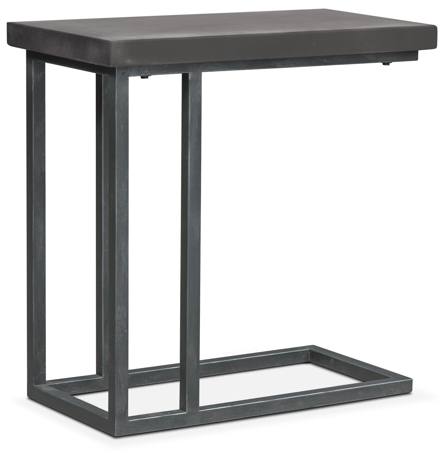 conde side table concrete american signature furniture outdoor accent apt baroque modern dining room round kitchen tablecloths adjustable height coffee ikea battery powered desk