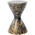 confetti indoor outdoor side table medium midnight terrazzo and master orange brass details for ultra furniture set two lamps electric wall clock crib sets room essentials shelf 150x150