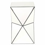 conrad mirrored accent end table reviews with mirror beautiful coffee tables round pedestal dining old kitchen tall square aluminum cream and sets lift small ikea white bedside 150x150