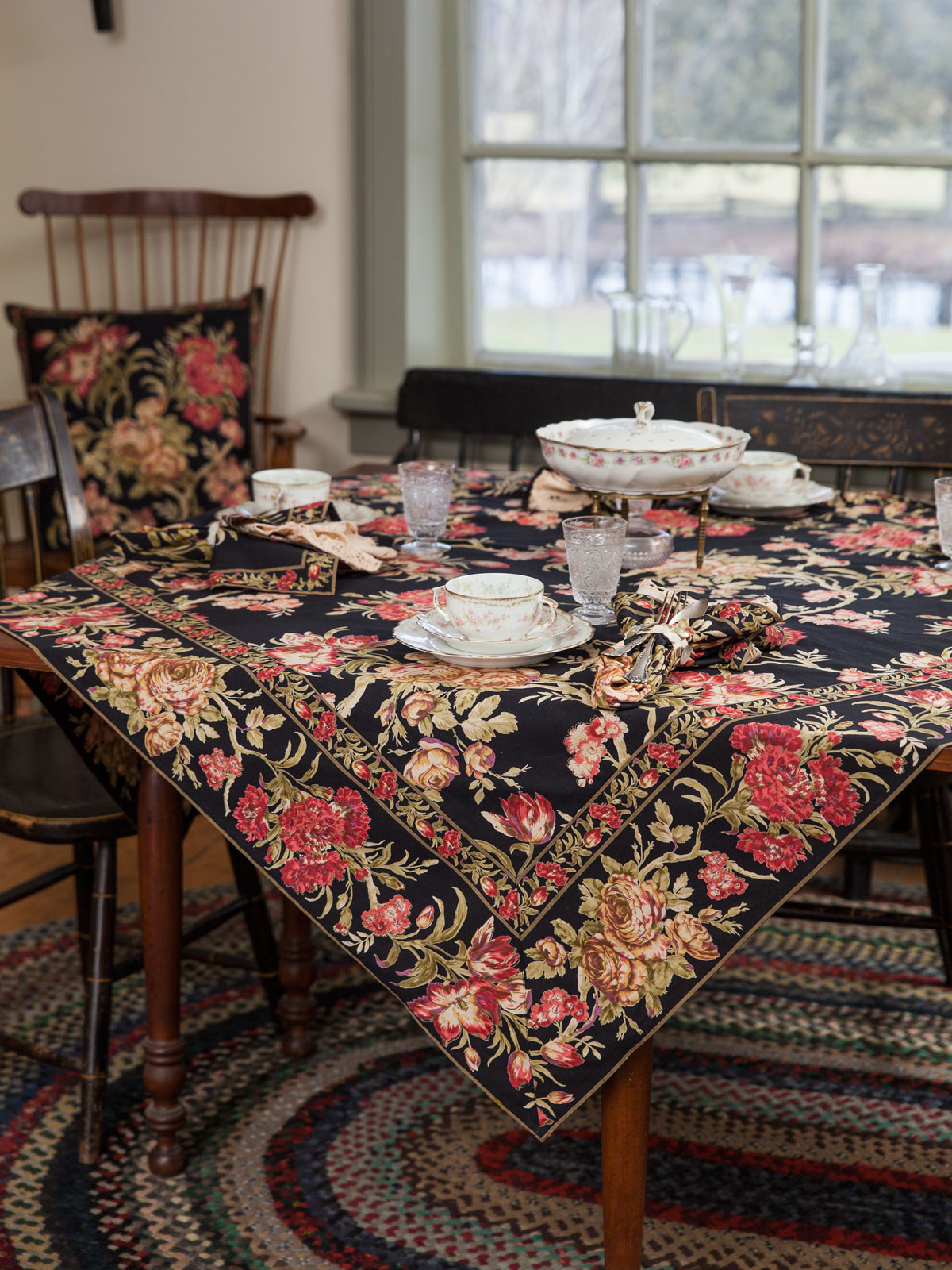 conservatory tablecloth attic linens kitchen tpconc black for inch round accent table beautiful designs cornell leather dining room chairs kmart desk lamp target vases tall