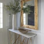 console table foyer gold accent mirror carrie mccall design sliding barn door for dining room mirrored coffee set small metal end danish mid century modern circular patio cover 150x150